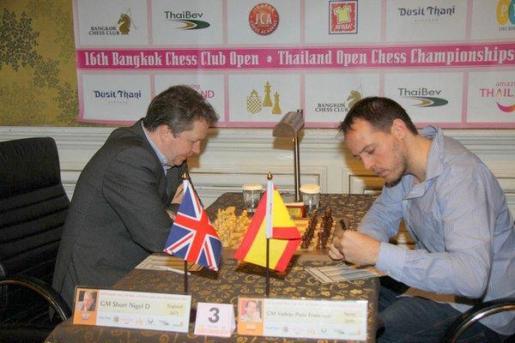 El gran maestro menorquín Paco Vallejo durante la disputa del Open de Bangkok, donde finalizó en segunda posición.