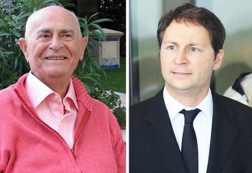 En la fotografía de la izquierda, el fallecido Constantin Dragán y, a la derecha, su hijo ilegítimo, Michael Periklis Fink.