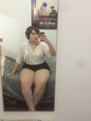 Imagen que la chica colgó en su perfil de Facebook tras ser increpada por sus piernas.