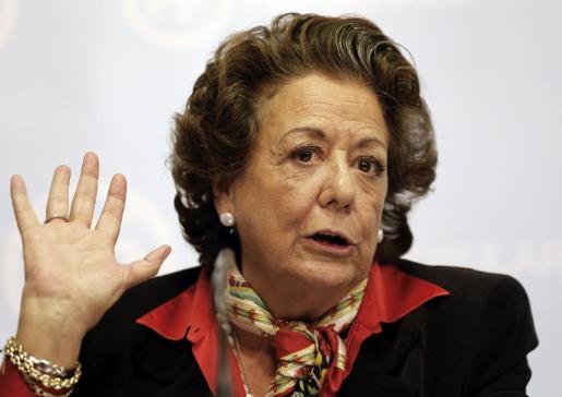 La exalcaldesa de Valencia y senadora territorial Rita Barberá durante una anterior rueda de prensa.