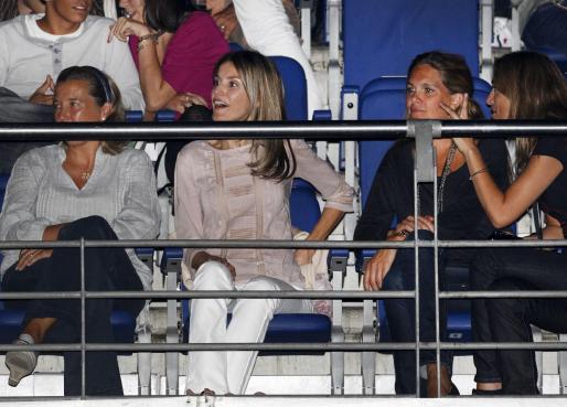 La princesa Letizia, anoche en el Palacio de los Deportes de Madrid, donde Alejandro Sanz ofreció su tercer concierto del verano.