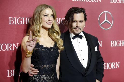 Johnny Depp y Amber Heard, en una imagen de archivo.