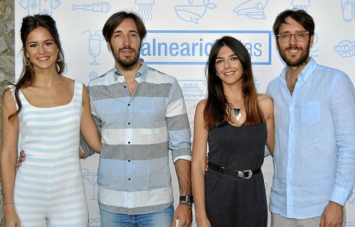 Ana Garau, Xisco Llompart, Clara Brunet y Xim Llompart.