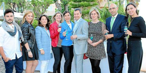 Raúl Valls, Victoria Maldi, Antonia Torres, Malén Mesquida, la directora general de Turisme, Pilar Carbonell; Toni Ferrer, Georgina Brunet, Antonio Sánchez-Grao y Rosa Romagosa.