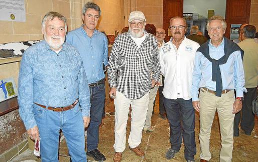 Joan Lacomba, Guillem Crespí, Jaume Poma, Jordi Poquet y Guillem Coll.