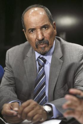 Fotografía de archivo, del 14/11/2014, del presidente de la República Árabe Saharaui Democrática (RASD) e histórico líder del movimiento Frente Polisario, Mohamed Abdelaziz, que ha muerto este martes a los 68 años de edad tras una larga enfermedad.