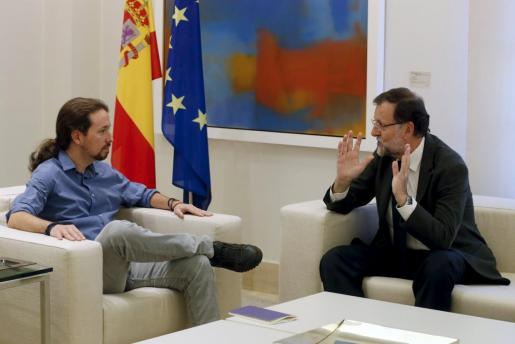 Pablo Iglesias y Mariano Rajoy.