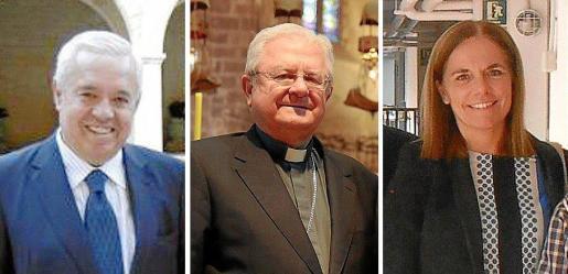 Mariano de España, el obispo Javier Salinas y Sonia Valenzuela.