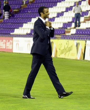 Maheta Molango, momentos después de terminar el partido en Valladolid.