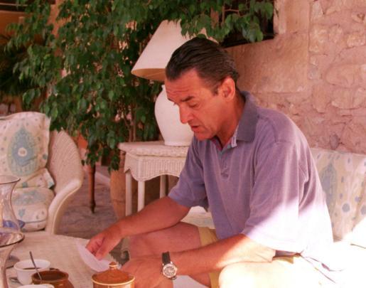 Mario Conde, en Can Poleta, la finca que ahora será subastada.