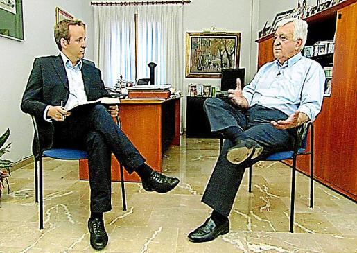 Cañellas repondiendo a Pere Muñoz en la entrevista.