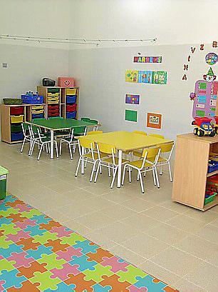 Un aula de la escoleta Huialfàs.