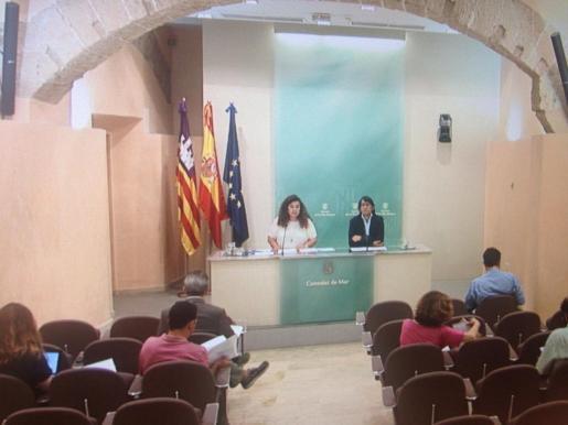 Iago Negueruela y Pilar Costa, durante la rueda de prensa.