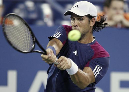 Verdasco, en un momento de su partido contra Nadal en el Open USA 2010.
