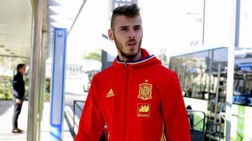 El portero de la selección española David de Gea durante un momento de la concentración.