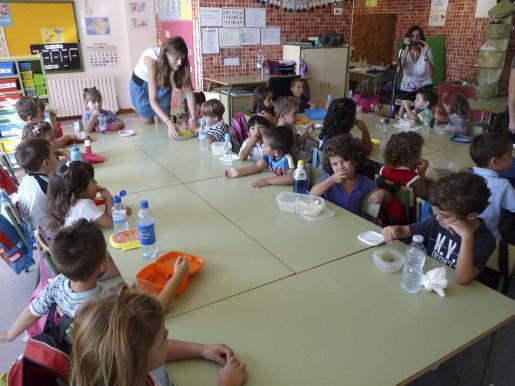 Alumnos de colegio Hort dels Flassaders de Alcúdia.