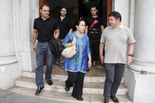 Saida Saadouki, a su salida de los juzgados.