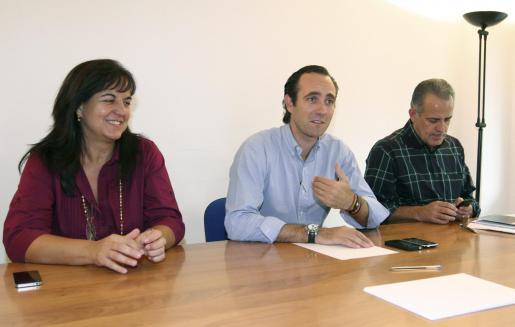 José Ramón Bauzá, en la nueva sede del PP en Eivissa.