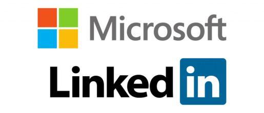 Logotipos de las compañías Microsoft y LinkedIn.