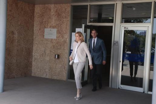 La infanta Cristina y su marido, Iñaki Urdangarin, abandonaban el pasado viernes el edificio de la EBAP donde están siendo juzgados en el marco del caso Nóos.