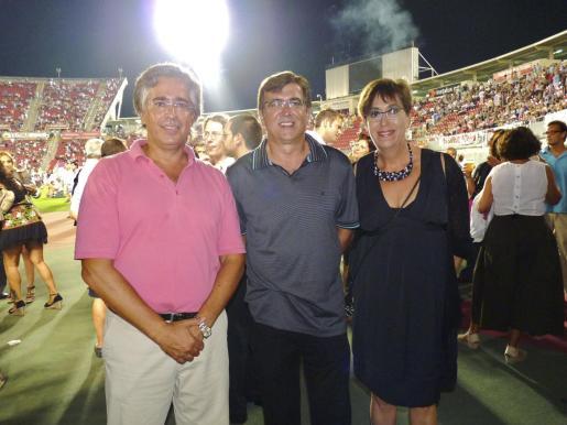 Rogelio Araújo, Francesc Antich y Joana Barceló.