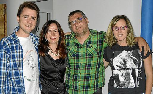 David Llobet, Carme Moreno, Joan Carles Ventura y Mer Bisbal.