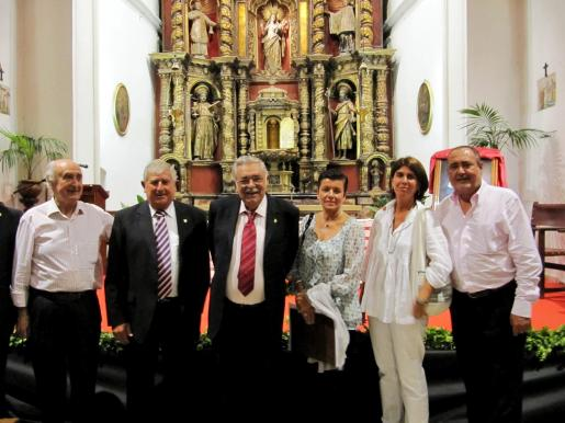 Rafael Perera, Joan Albertí, Pere A. Serra, Carmen Serra, Àngela Moreda y Jesús Boyero.