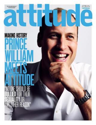 Portada de la revista Attitude.