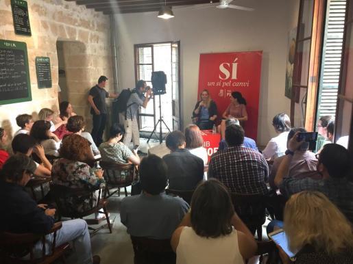 Zaida Cantera, ha presentado hoy en Palma las propuestas del PSOE en materia de igualdad de cara a las elecciones generales del 26 de junio.