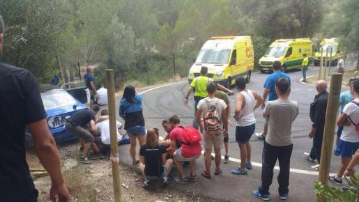 Imagen tomada poco después del accidente que provocó cuatro heridos.