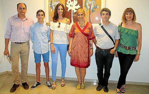 Magín, Carlos y Mar Pinto, Maria Terrades, Pere Crespí y Eva Brauer.