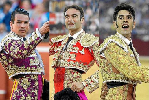 José María Manzanares, Enrique Ponce y Alejandro Talavante.