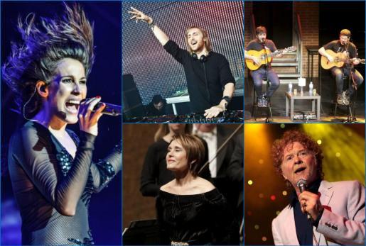 Algunos de los conciertos que se celebrarán este verano en Mallorca.