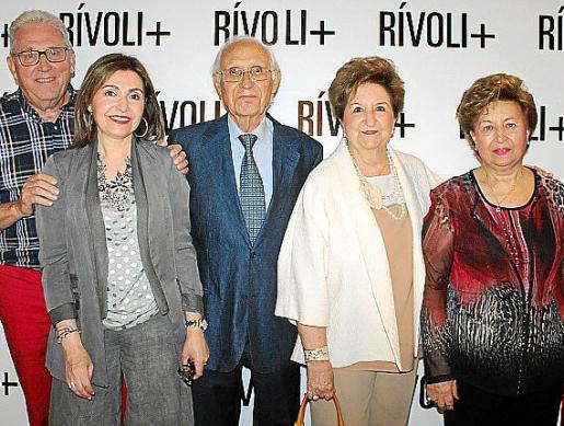 Josep Matas, Margalida Salom, Sebastià Salom, Carmen Servera y María Servera.