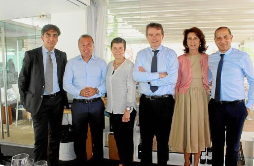 José Manuel del Arco, Joan Mesquida, Carmen Serra, Antonio Catalán, Carmen Planas y Kemel Kharbachi.