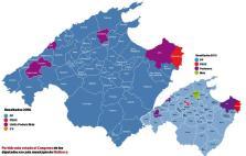 Mapa de Mallorca por partidos
