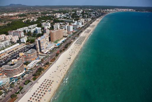 Vista aérea de la Platja de Palma.