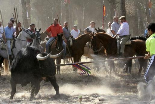 Fotografía de archivo tomada en Valladolid el 12/09/06 de la celebración del Toro de la Vega, en Tordesillas (Valladolid).