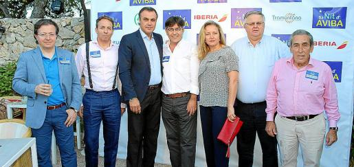 Carlos Florit, Edu Riera, Rafael Gallego, Antoni Abrines, María Antonia Binimelis, Rafel Roig y Pedro Iriondo.