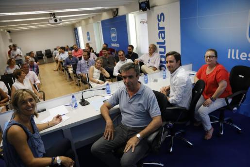 Reunión del comité ejecutivo regional del PP en Balears.