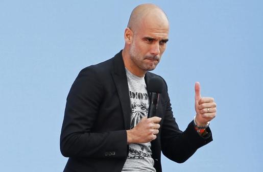 El español Pep Guardiola ha sido presentado este domingo como nuevo entrenador del Manchester City.