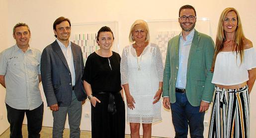Rafel Creus, Francesc Miralles, Bel Font, Gema Llamazares, José Hila y Diana González.