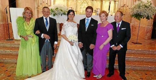 Catiana Cabrer, Francisco Martínez-Orozco, María José Martínez-Orozco, Eduardo Serrano, Micaela Alemany y Marino Serrano.