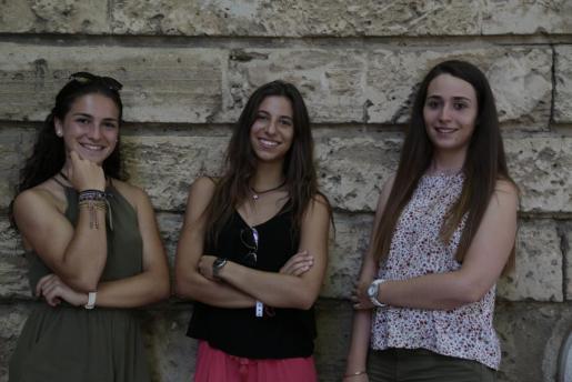 Laura Moreno, Marta Cuenca e Irene Cantallops.