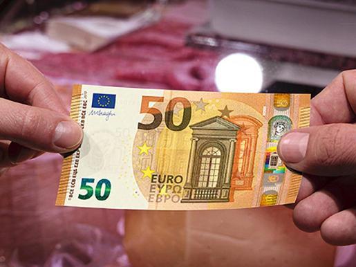 Diseño del nuevo billete de 50 euros presentado este martes por el BCE.