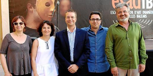 Aina Salom, Maite Villar, Juanjo Montañez, Martí Fons y Pere Fullana.