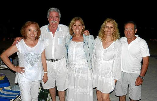 Carmen Leal, Juan González, Juana Bolívar, María Campayo e Ignacio Bódalo.