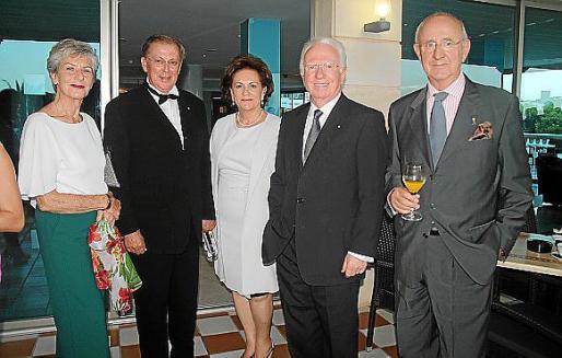 Anneli Knuchel, Cristóbal Rosselló, Apol·lònia Castell, Federico Knuchel y Salvador Vila Horrach.