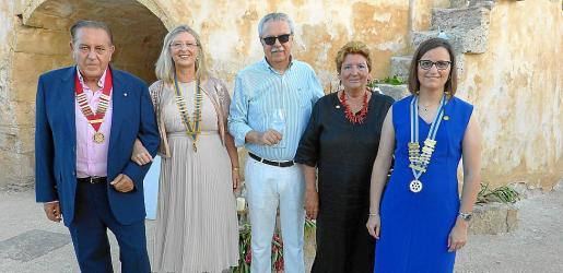 Junta saliente: Mateo Bennasar, Pilar Maldonado, José Ferrer, Iyabó Carbó y Kika Muret.