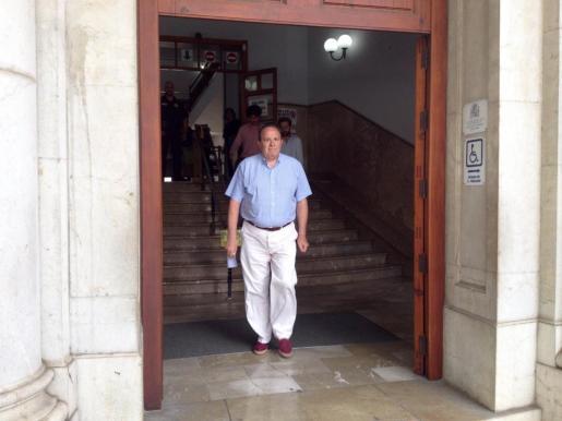 José María Rodríguez, tras declarar ante el juez este viernes.